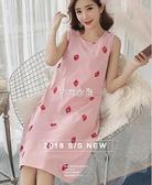 睡裙女夏背心韓版吊帶可外穿夏天可愛少女無袖寬鬆睡衣裙