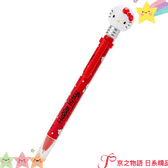 【京之物語】現貨-日本三麗鷗HELLOKITTY燈泡造型發光黑色圓珠筆 原子筆