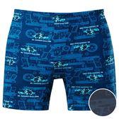 DADADO-演習 M-3L 印花平口內褲(深藍)GH7297-DB