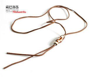 藏飾風格犛牛骨藏飾簡約中長款項鏈