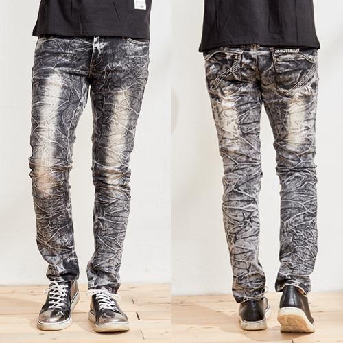 高磅數鬼洗窄管牛仔褲
