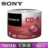 ◆全館免運費◆SONY CD-R 48X 700MB (50片裸裝)x1