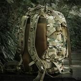 狼石戶外軍迷用品特種兵單兵戰術背包迷彩雙肩包3D攻擊包45L背囊