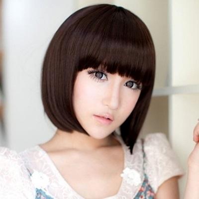 整頂假髮(短髮)-時尚迷人甜美齊瀏海女假髮3色73ef33【時尚巴黎】