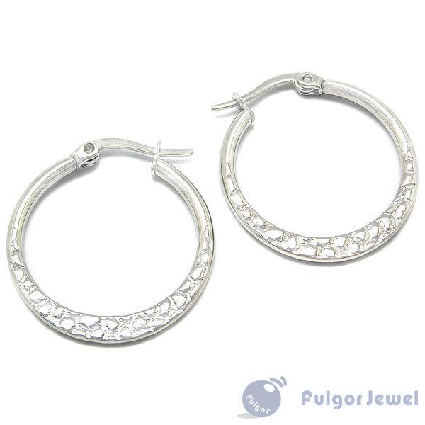 316西德鋼 鋼飾 流行飾品 316 西德鋼 花樣豹紋耳環 耳針卡扣式【Fulgor Jewel】