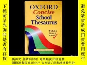二手書博民逛書店OXFORD罕見Concise School Thesaurus