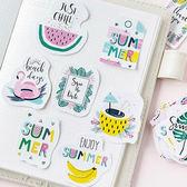 【BlueCat】陌墨熱帶雨林夏季水果盒裝貼紙 手帳貼紙