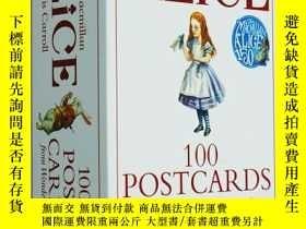 二手書博民逛書店英文原版罕見Alice 100 Postcards from W