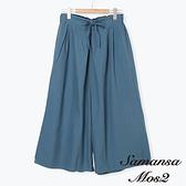 「Summer」束腰繫帶九分寬襬褲 (提醒 SM2僅單一尺寸) - Sm2