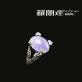 戒指925純銀。復古系列-心意--馬克賽石+紫玉髓-戒圍#11.5,內徑約1.7CM。【羅蘭達銀飾】