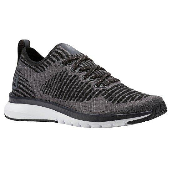 REEBOK PRINT SMOOTH 2.0 女鞋 慢跑 訓練 輕量 緩衝 編織 灰黑【運動世界】CN1742