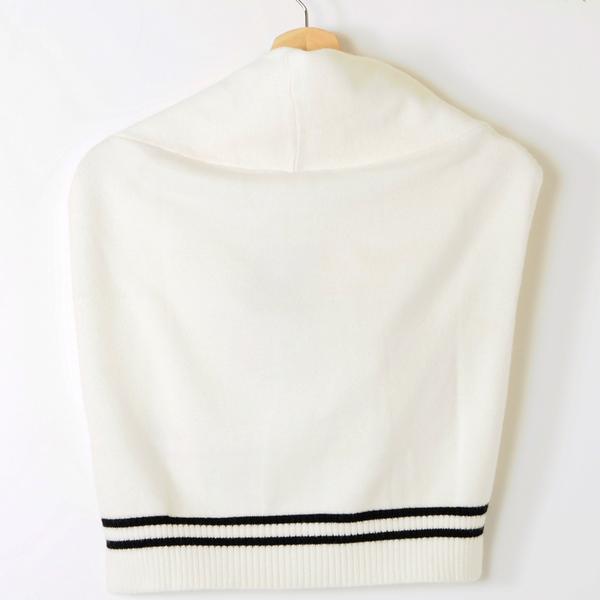 【MASTINA】針織綁帶披肩-白 好康優惠