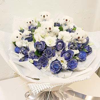 『生日花束』藍色香頌