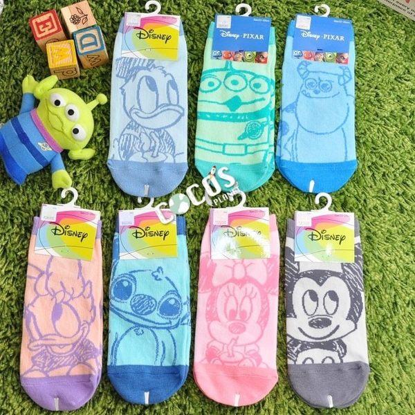 正版授權 迪士尼襪子 唐老鴨女朋友 黛西 黛絲 畫筆風 短襪 造型襪 襪子 直版襪 台灣製造 COCOS JI039