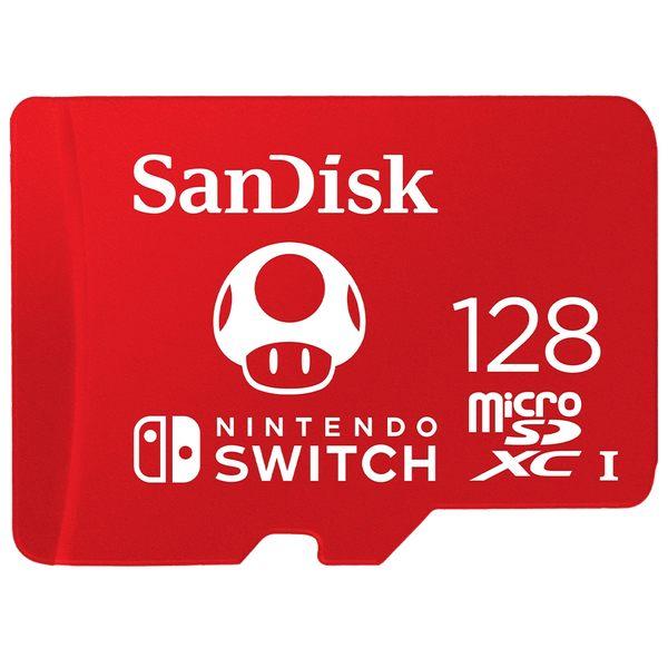 [哈GAME族]免運費●官方授權●SanDisk 任天堂 SWITCH 專用 U3 microSDXC記憶卡 128GB 蘑菇紅卡