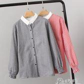 女裝加肥加大碼200斤胖MM韓版時尚加絨格子長袖襯衫  奇思妙想屋