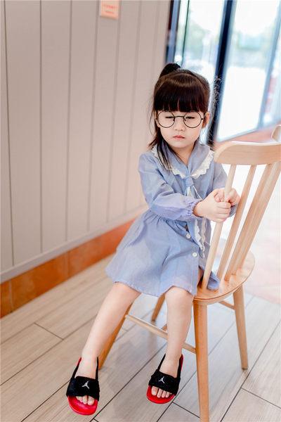 *╮小衣衫S13╭*蕾絲水手領襯衫長袖洋裝  1050804