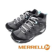 【南紡購物中心】MERRELL(女)ALVERSTONEMIDGORE-TEX郊山健行中筒登山鞋女鞋-灰藍