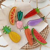 繽紛水果蔬菜壓克力髮夾 兒童髮飾 邊夾 瀏海夾