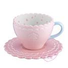 ♥小花花日本精品♥ Starbucks星巴克圖案馬克杯握把杯盤組-櫻花款 花瓣繽紛杯盤組 可愛杯子