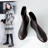 2019新款歐美個性時尚帥氣馬丁靴 騎士靴 低跟短靴 ~2色