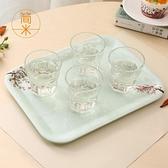 簡米北歐家用托盤長方形水杯茶杯托盤歐式茶盤簡約客廳放杯子托盤 【全館免運】
