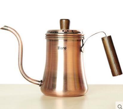 手衝咖啡壺 不銹鋼家用細嘴壺咖啡手衝壺 典雅細口壺700ml