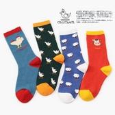 【2枚入】襪子女中長筒日系彩色動物卡通【奇趣小屋】