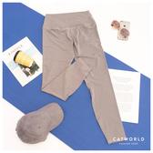 Catworld 運動玩家。純色高腰彈力緊身運動褲【12002095】‧S-2XL
