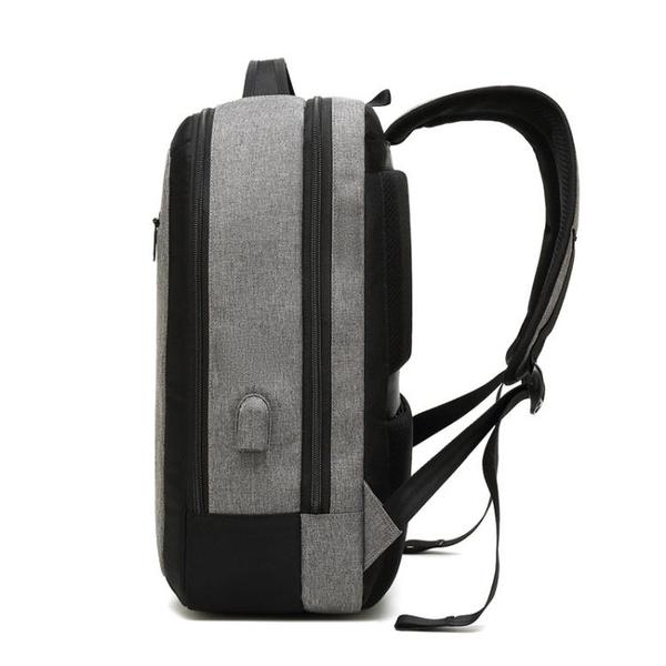 韓版男後背包 戶外旅行包 電腦背包 USB充電休閒雙肩包【五巷六號】wb1336
