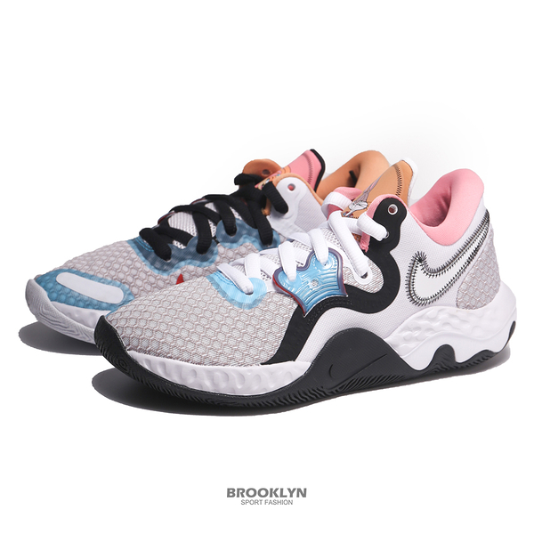 NIKE 籃球鞋 RENEW ELEVATE II 粉紫黑 怪物奇兵 兔寶寶加女友 SPACE JAM 2 男女 (布魯克林) CW3406-505