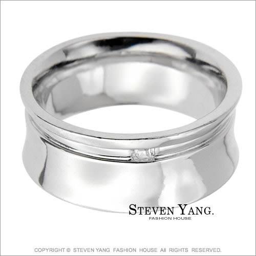 情人對戒STEVEN YANG正白K飾 戒指「戀戀情深」銀色款*單個價格*