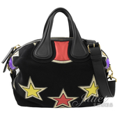 茱麗葉精品【全新現貨】 Givenchy 紀梵希Nightingale星星麂皮南丁格爾包.黑 小