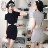 夏裝新款性感夜店女裝緊身修身露腰包臀洋裝夜場氣質短裙潮