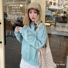 MD韓-內磨毛大學T恤-4色【01190806】
