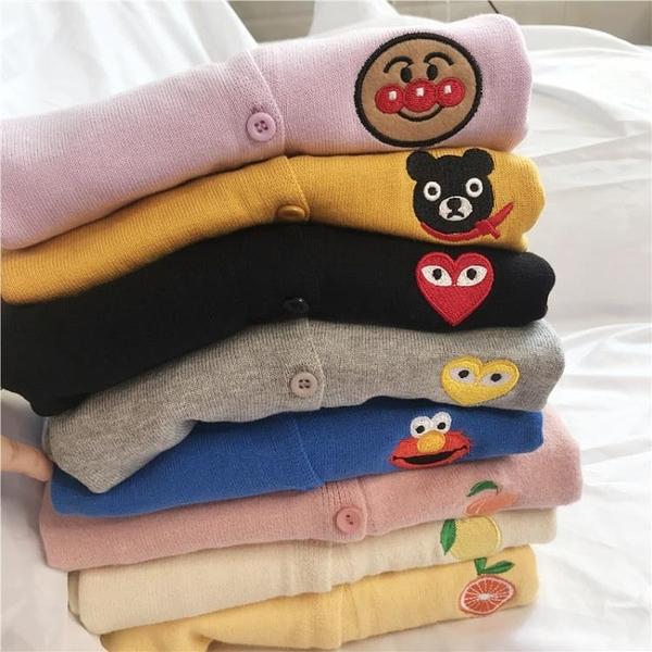 童裝女童毛衣兒童針織開衫2020新款卡通男童薄款外套寶寶秋冬上衣 童趣潮品