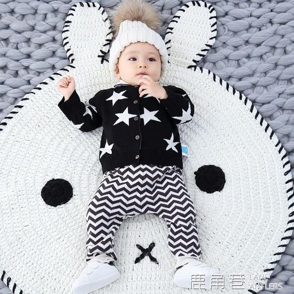 寶寶外套 ins風 男寶寶針織衫開衫歲嬰兒毛衣外套嬰幼兒秋裝薄款外套『快速出貨』