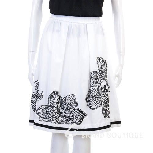 SOCIETA'DEL SILE 白色花繪圖紋裙 0810321-20