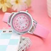 可愛卡通女孩手錶中小學生兒童腕錶女童女生錶時尚防水石英電子錶WY三角衣櫥