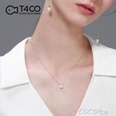 項鍊T400單顆小珍珠項鍊女鎖骨鍊天然清倉冷淡風吊墜鍊細春季特賣