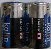 歌林碳鋅電池1號2入