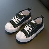 兒童帆布鞋春秋女童鞋寶寶單鞋男童板鞋低筒休閒鞋學生球鞋餅干鞋 快速出貨
