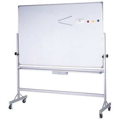 【台北以外縣市價】群策 KA408 單面磁性白板+鋁迴轉架/白板架 120x240