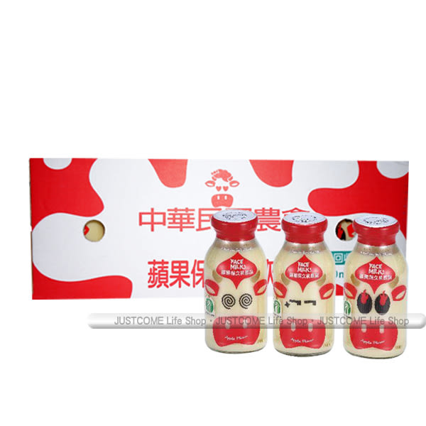 【台農乳品】蘋果保久乳飲品(200ml x24瓶) x1箱_蘋果牛奶