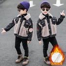 童裝男童牛仔外套2019新款兒童秋裝洋氣中大童秋冬加絨加厚夾克-ifashion