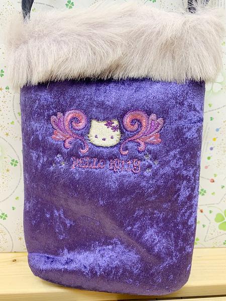【震撼精品百貨】Hello Kitty 凱蒂貓~Sanrio HELLO KITTY斜背包-孔雀紫#95556