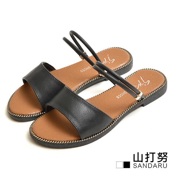 寬版金邊兩穿涼拖鞋