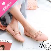 歐美森女係甜美花朵裝飾造型圓頭平底娃娃包鞋/4色/35-43碼 (RX0372-H19) iRurus 路絲時尚