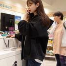 虧本衝量-春秋裝衛衣新款女長袖韓版寬鬆加絨冬季連帽拉鏈外套 快速出貨