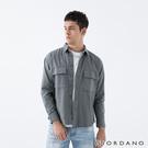 【GIORDANO】男裝純棉工裝風襯衫 - 04 灰